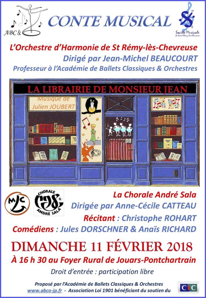 Affiche événement Librairie de Mr Jean
